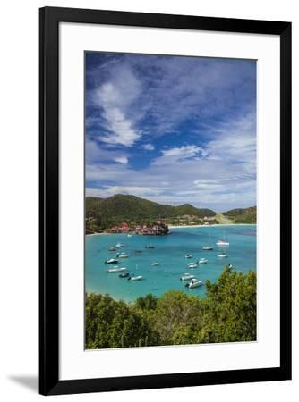French West Indies, St-Barthelemy. Baie de Saint Jean-Walter Bibikow-Framed Photographic Print