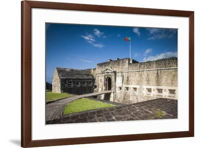 St. Kitts and Nevis, St. Kitts. Brimstone Hill Fortress-Walter Bibikow-Framed Photographic Print
