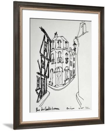 Rue des Gentils Homme in Quimper, France literally means the street of the gentle men. Isn't that a-Richard Lawrence-Framed Photographic Print