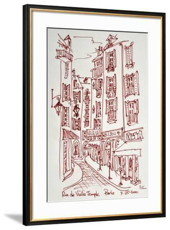 Rue Vieille du Temple in Paris is one of the many narrow streets in Le Marais.-Richard Lawrence-Framed Photographic Print