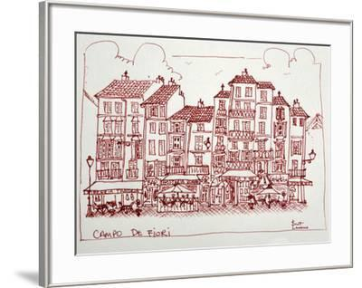 Campo De Fiori is one of the great squares of Rome, Italy. Campo De Fiori is surrounded by restaura-Richard Lawrence-Framed Photographic Print