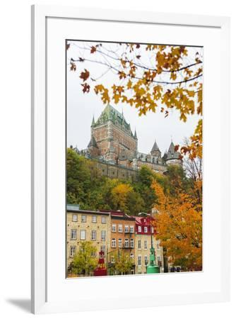 View of Chateau Frontenac from Quartier du Petit-Champlain, Vieux-Quebec, the only Walled City in N-Stuart Westmorland-Framed Photographic Print