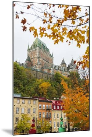 View of Chateau Frontenac from Quartier du Petit-Champlain, Vieux-Quebec, the only Walled City in N-Stuart Westmorland-Mounted Photographic Print