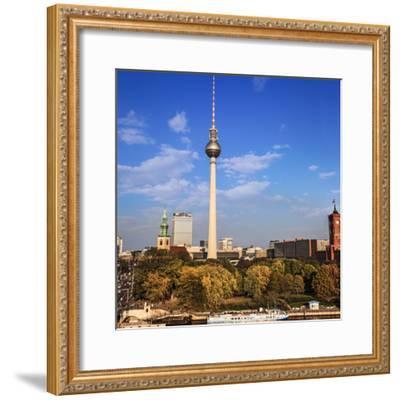 Berlin, Germany. Fernsehturm TV Tower at Alexanderplatz-Miva Stock-Framed Premium Photographic Print