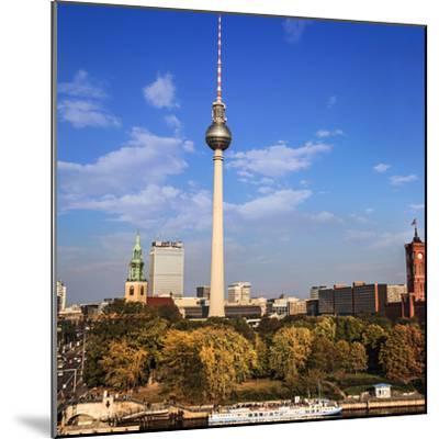 Berlin, Germany. Fernsehturm TV Tower at Alexanderplatz-Miva Stock-Mounted Premium Photographic Print