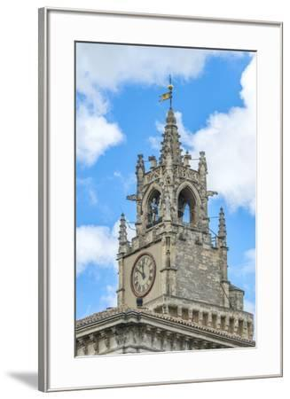 Clock tower of town hall, Avignon, France-Jim Engelbrecht-Framed Photographic Print