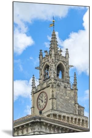 Clock tower of town hall, Avignon, France-Jim Engelbrecht-Mounted Photographic Print