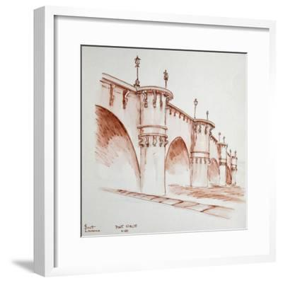 Le Pont Neuf, 'the new bridge', in Paris, France. It was started in 1578 and finished in 1607 and i-Richard Lawrence-Framed Premium Photographic Print