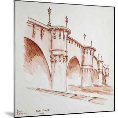 Le Pont Neuf, 'the new bridge', in Paris, France. It was started in 1578 and finished in 1607 and i-Richard Lawrence-Mounted Premium Photographic Print