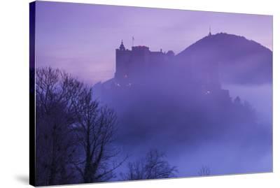 Austria, Salzburg, Festung Hohensalzburg Castle-Walter Bibikow-Stretched Canvas Print
