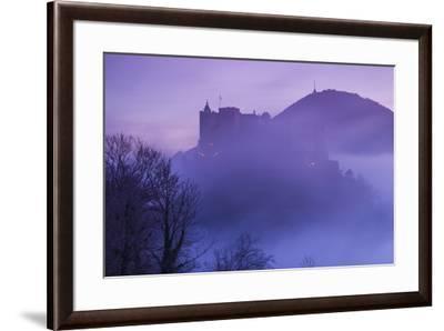 Austria, Salzburg, Festung Hohensalzburg Castle-Walter Bibikow-Framed Photographic Print
