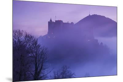 Austria, Salzburg, Festung Hohensalzburg Castle-Walter Bibikow-Mounted Photographic Print