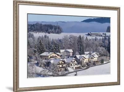 Austria, Salzburgerland, Hof bei Salzburg, winter landscape-Walter Bibikow-Framed Photographic Print