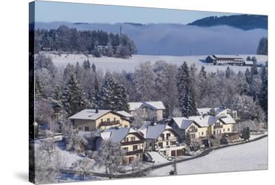 Austria, Salzburgerland, Hof bei Salzburg, winter landscape-Walter Bibikow-Stretched Canvas Print