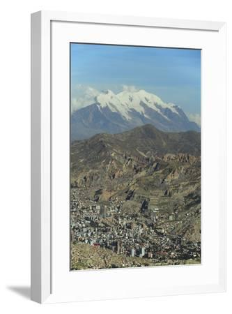La Paz, Bolivia. Cityscape from El Alto viewpoint in La Paz, Bolivia.-Anthony Asael-Framed Photographic Print