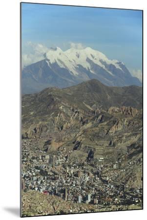 La Paz, Bolivia. Cityscape from El Alto viewpoint in La Paz, Bolivia.-Anthony Asael-Mounted Photographic Print