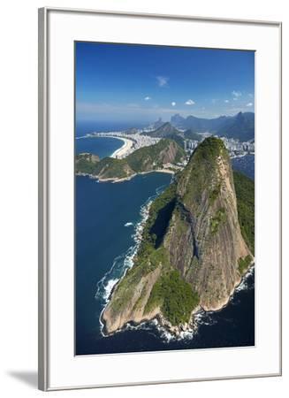 Sugarloaf Mountain (Pao de Acucar), and Copacabana Beach, Rio de Janeiro, Brazil-David Wall-Framed Photographic Print