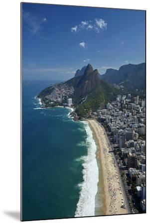Ipanema Beach, Morro Dois Irmaos, and Vidigal Favela (top), Rio de Janeiro, Brazil-David Wall-Mounted Photographic Print