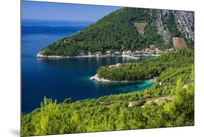 The village of Trstenik on the Peljesac Peninsula above the Adriatic Sea, Dalmatia, Croatia-Russ Bishop-Mounted Photographic Print