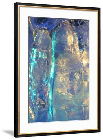 Patterns and textures of ice blocks near Fairbanks, Alaska, USA-Stuart Westmorland-Framed Photographic Print