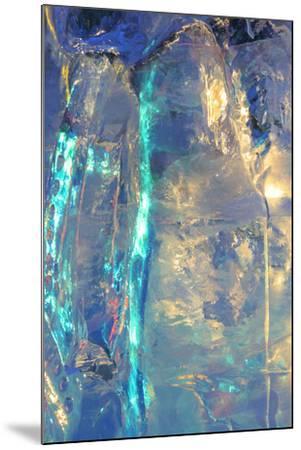 Patterns and textures of ice blocks near Fairbanks, Alaska, USA-Stuart Westmorland-Mounted Photographic Print