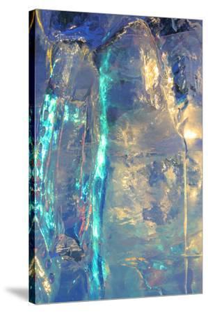 Patterns and textures of ice blocks near Fairbanks, Alaska, USA-Stuart Westmorland-Stretched Canvas Print
