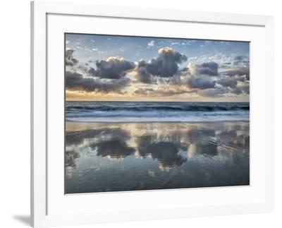 USA, California, La Jolla. Cloud reflections at Marine Street Beach-Ann Collins-Framed Photographic Print