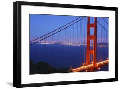Golden Gate Bridge at Night, San Francisco, California-Anna Miller-Framed Photographic Print