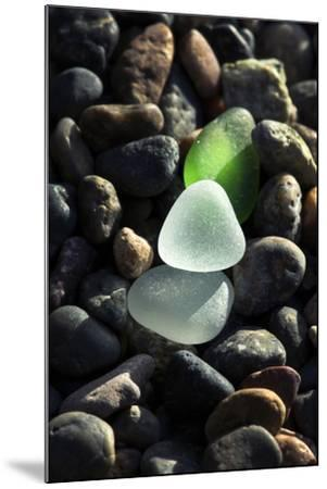 USA, California, La Jolla. Sea glass on cobblestone beach.-Jaynes Gallery-Mounted Photographic Print