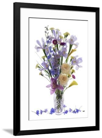 Usa, Florida, Celebration, A Vase of Blooming Flowers-Hollice Looney-Framed Photographic Print