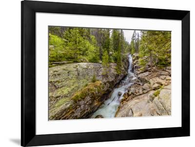 USA, Colorado, Rocky Mountain National Park. Waterfall and river cascade.-Jaynes Gallery-Framed Photographic Print