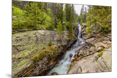 USA, Colorado, Rocky Mountain National Park. Waterfall and river cascade.-Jaynes Gallery-Mounted Photographic Print