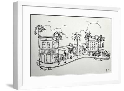 Orange Ave. in Coronado California. A wonderful shopping street, just a block from the beach.-Richard Lawrence-Framed Photographic Print