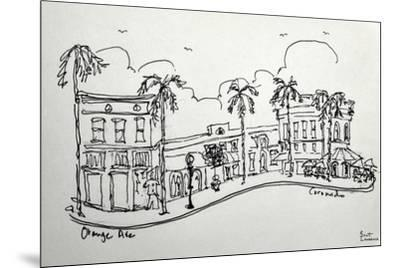 Orange Ave. in Coronado California. A wonderful shopping street, just a block from the beach.-Richard Lawrence-Mounted Photographic Print