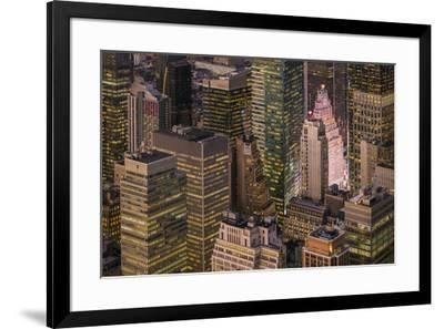 USA, New York City, elevated view of Midtown Manhattan-Walter Bibikow-Framed Photographic Print