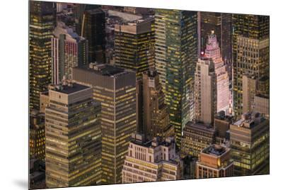 USA, New York City, elevated view of Midtown Manhattan-Walter Bibikow-Mounted Photographic Print