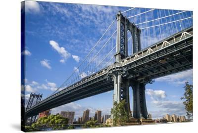 USA, New York, Brooklyn, Dumbo. Manhattan Bridge-Walter Bibikow-Stretched Canvas Print