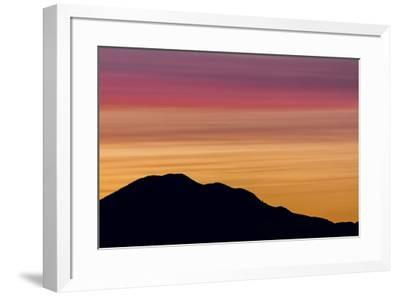 USA, Washington State, Seabeck. Sunset over Mount Walker.-Jaynes Gallery-Framed Photographic Print