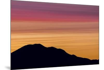 USA, Washington State, Seabeck. Sunset over Mount Walker.-Jaynes Gallery-Mounted Photographic Print
