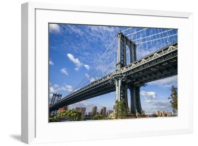 USA, New York, Brooklyn, Dumbo. Manhattan Bridge-Walter Bibikow-Framed Photographic Print