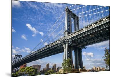 USA, New York, Brooklyn, Dumbo. Manhattan Bridge-Walter Bibikow-Mounted Photographic Print