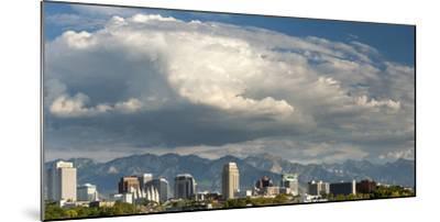 Salt Lake City below the Wasatch Mountain Range, Utah.-Howie Garber-Mounted Photographic Print