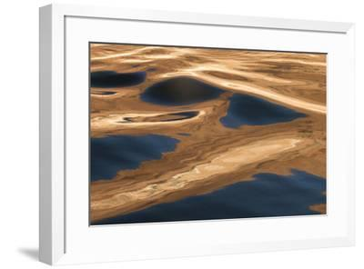 USA, Utah, Glen Canyon National Recreation Area. Abstract design of canyon wall and sky reflections-Judith Zimmerman-Framed Photographic Print