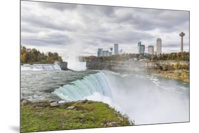 USA, New York, Niagara Falls, view from American Falls to Niagara Falls, Ontario, Canada-Walter Bibikow-Mounted Photographic Print