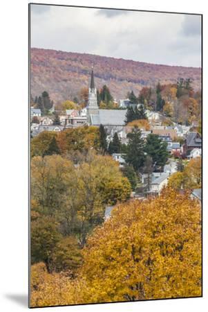 USA, Pennsylvania, Jim Thorpe, elevated town view-Walter Bibikow-Mounted Photographic Print