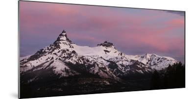 USA, Wyoming. Sunrise above the Absaroka Range.-Jaynes Gallery-Mounted Photographic Print