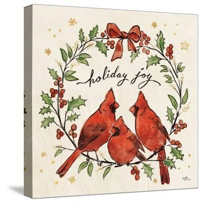Christmas Lovebirds XI-Janelle Penner-Stretched Canvas Print