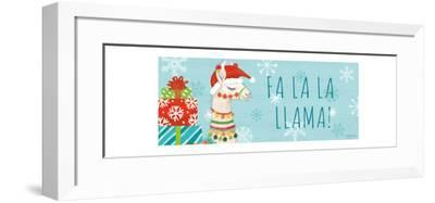 Lovely Llamas Christmas VI-Mary Urban-Framed Art Print