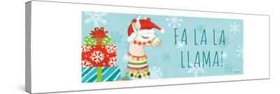 Lovely Llamas Christmas VI-Mary Urban-Stretched Canvas Print