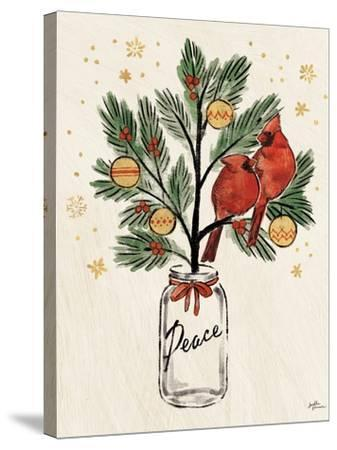 Christmas Lovebirds XIII-Janelle Penner-Stretched Canvas Print